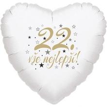 22. narozeniny balónek srdce