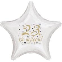 23. narozeniny balónek hvězda