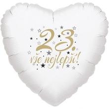 23. narozeniny balónek srdce