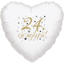 24. narozeniny balónek srdce