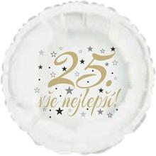 25. narozeniny balónek kruh