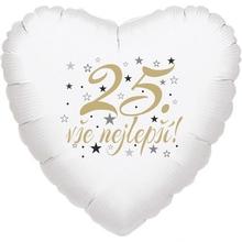 25. narozeniny balónek srdce