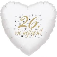 26. narozeniny balónek srdce