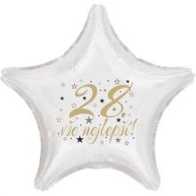 28. narozeniny balónek hvězda