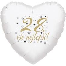 28. narozeniny balónek srdce