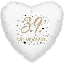 39. narozeniny balónek srdce