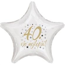 40. narozeniny balónek hvězda