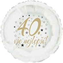 40. narozeniny balónek kruh