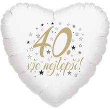 40. narozeniny balónek srdce
