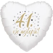 41. narozeniny balónek srdce