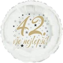 42. narozeniny balónek kruh