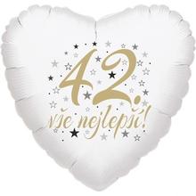 42. narozeniny balónek srdce
