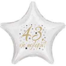 43. narozeniny balónek hvězda