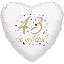 43. narozeniny balónek srdce