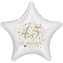 45. narozeniny balónek hvězda