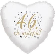 46. narozeniny balónek srdce