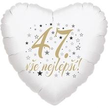47. narozeniny balónek srdce