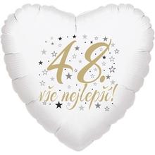 48. narozeniny balónek srdce