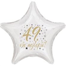 49. narozeniny balónek hvězda