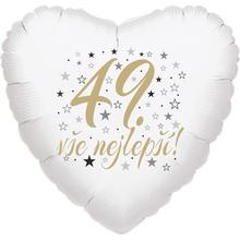 49. narozeniny balónek srdce