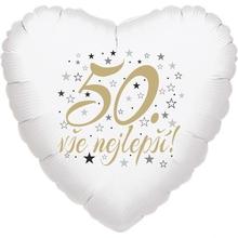 50. narozeniny balónek srdce