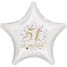 51. narozeniny balónek hvězda