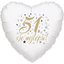 51. narozeniny balónek srdce
