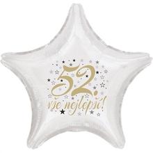 52. narozeniny balónek hvězda