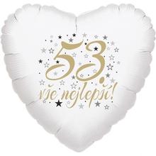 53. narozeniny balónek srdce