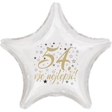 54. narozeniny balónek hvězda