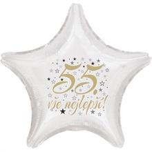 55. narozeniny balónek hvězda