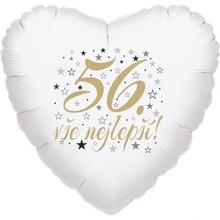 56. narozeniny balónek srdce
