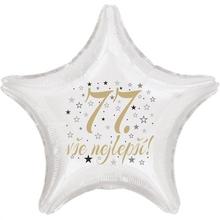 77. narozeniny balónek hvězda