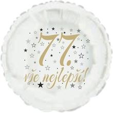 77. narozeniny balónek kruh