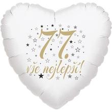 77. narozeniny balónek srdce