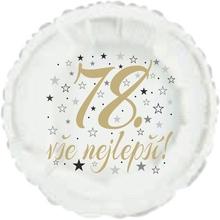 78. narozeniny balónek kruh