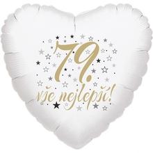 79. narozeniny balónek srdce