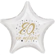 80. narozeniny balónek hvězda