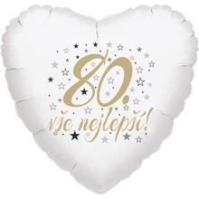 80. narozeniny balónek srdce