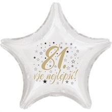 81. narozeniny balónek hvězda