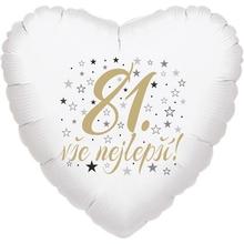 81. narozeniny balónek srdce