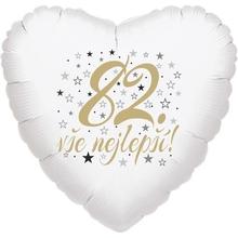 82. narozeniny balónek srdce