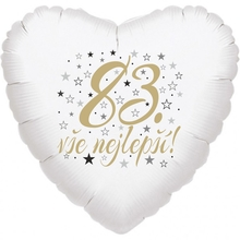 83. narozeniny balónek srdce
