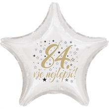 84. narozeniny balónek hvězda