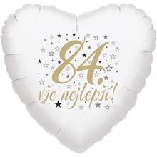 84. narozeniny balónek srdce