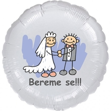 Bereme se!!! balónek fóliový stříbrný