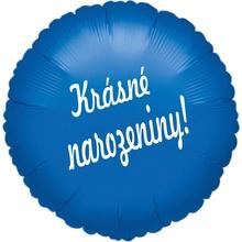 Fóliový balónek kruh modrý Krasne narozeniny!