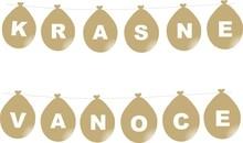 Krásné vánoce zlatý nápis