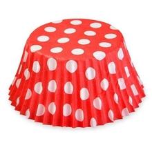 Košíčky červené s puntíky 50ks