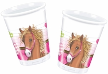 Koně kelímky 8ks 200ml